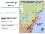 current design values