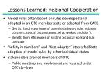 lessons learned regional cooperation1