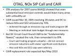 otag nox sip call and cair
