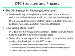 otc structure and process