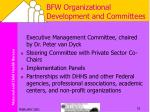 bfw organizational development and committees