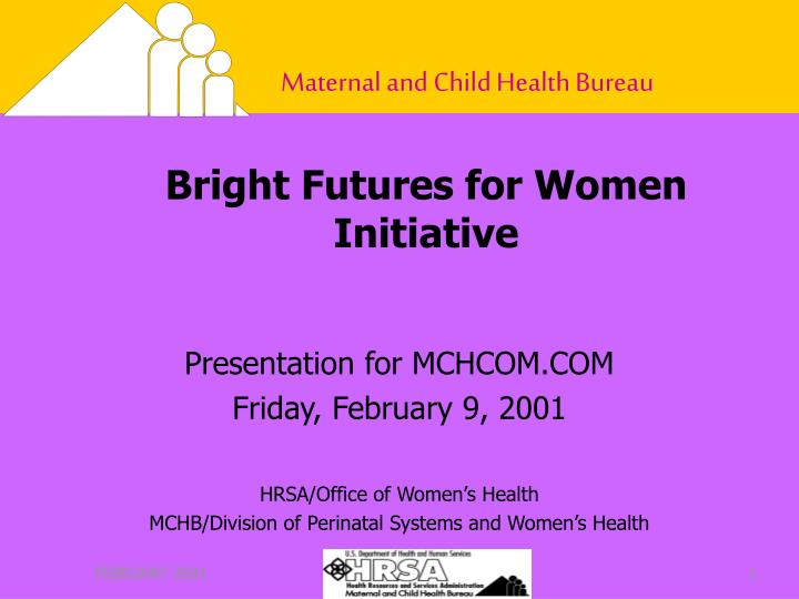 bright futures for women initiative n.