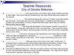 teacher resources city of omaha websites