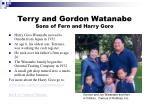 terry and gordon watanabe sons of fern and harry goro