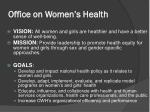 office on women s health