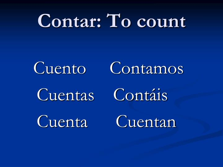 Contar: To count