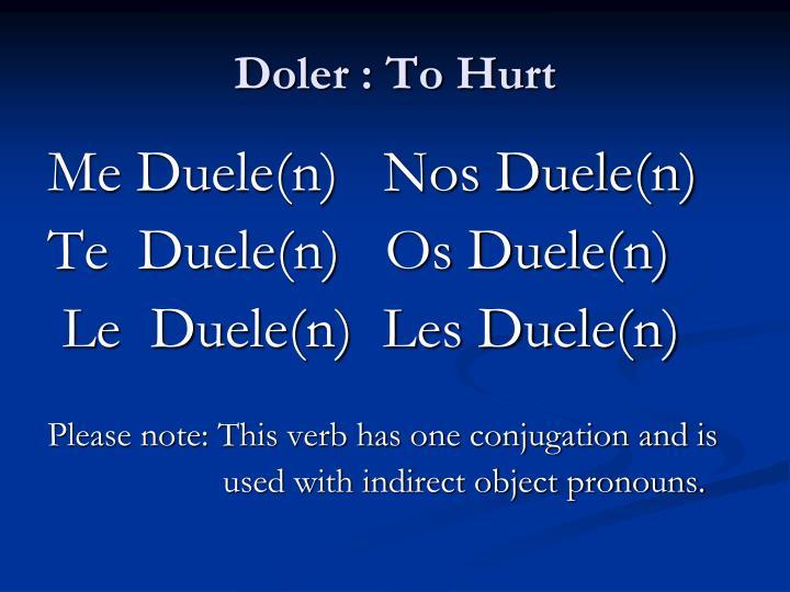 Doler : To Hurt