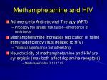 methamphetamine and hiv1