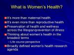 what is women s health