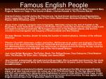 famous english people