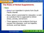 the risks of herbal supplements2
