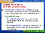 what to know about over the counter drugs