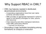 why support rbac in owl