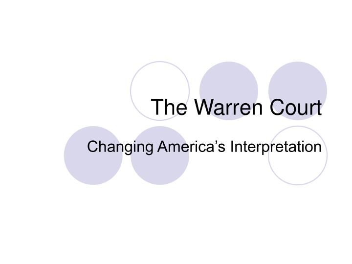 the warren court n.