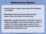 references basics