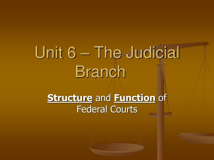 unit 6 the judicial branch n.