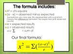 our final formula