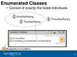 enumerated classes