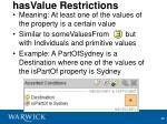 hasvalue restrictions