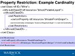 property restriction example cardinality