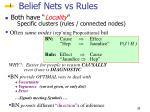 belief nets vs rules