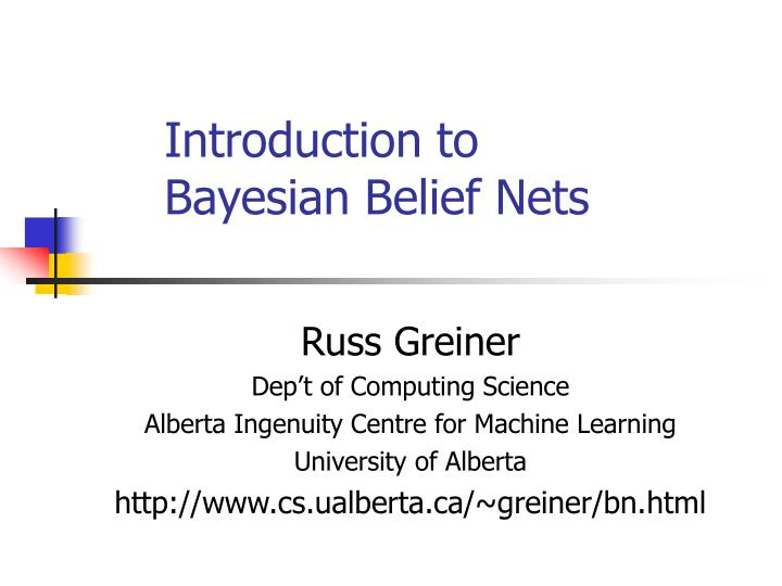 introduction to bayesian belief nets n.