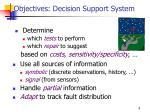 objectives decision support system