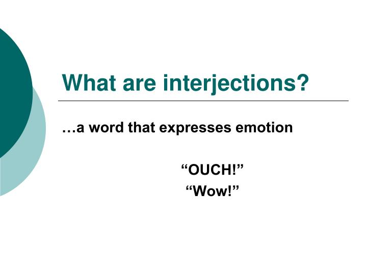 what are interjections n.