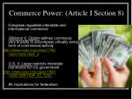 commerce power article i section 8