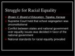struggle for racial equality