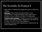 the scramble for federal