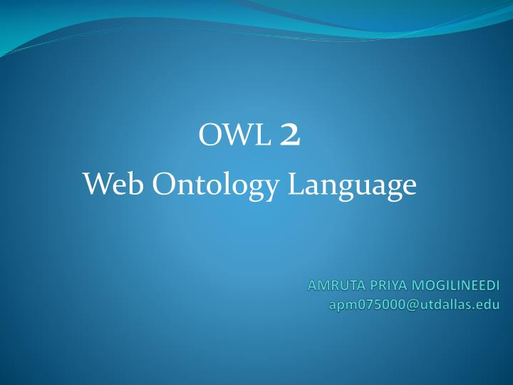 owl 2 web ontology language n.