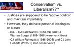 conservatism vs liberalism