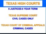 texas high courts