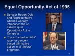 equal opportunity act of 1995
