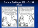 gratz v bollinger 539 u s 244 2003