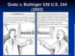 gratz v bollinger 539 u s 244 20031