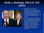 gratz v bollinger 539 u s 244 20033