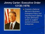 jimmy carter executive order 12138 1979