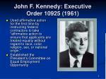 john f kennedy executive order 10925 1961