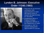 lyndon b johnson executive order 11246 1965