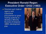 president ronald regan executive order 12432 1983