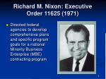 richard m nixon executive order 11625 1971