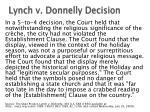 lynch v donnelly decision