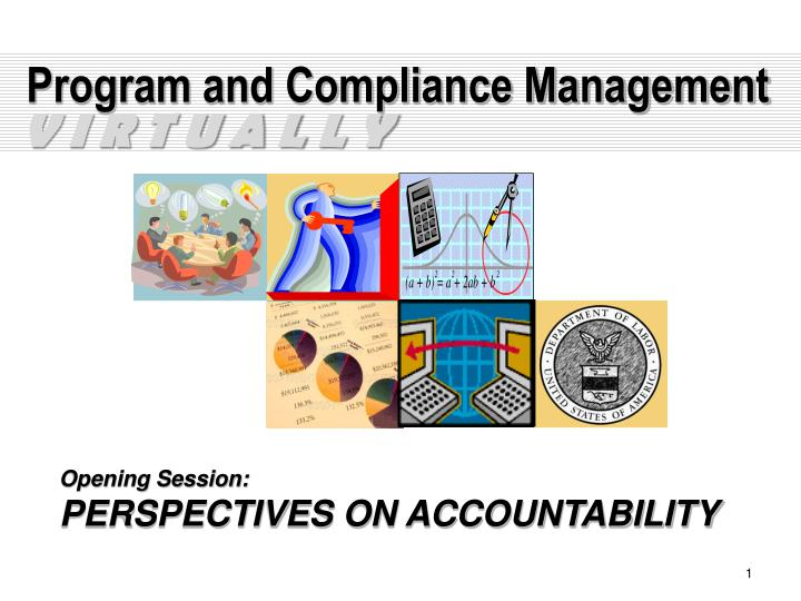 program and compliance management n.