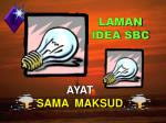 laman idea sbc