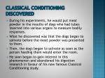 classical conditioning discovered
