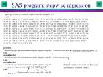 sas program stepwise regression