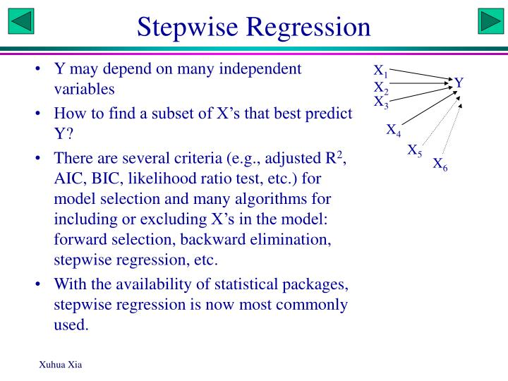 stepwise regression n.