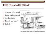 the dreaded essay